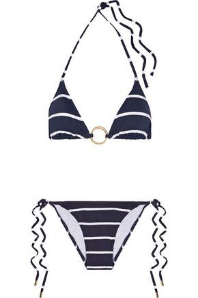 MELISSA ODABASH Miami striped triangle bikini