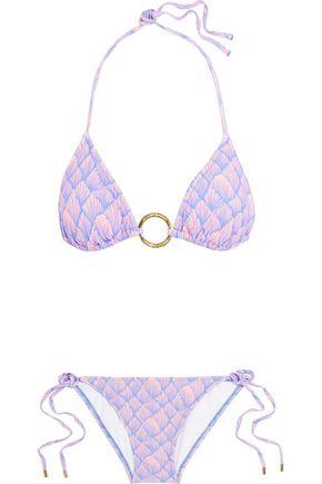 MELISSA ODABASH Miami leopard-print triangle bikini