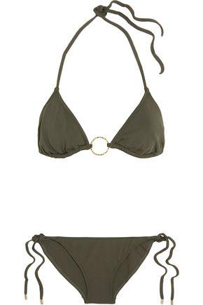 MELISSA ODABASH Miami printed triangle bikini