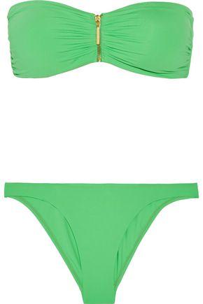 MELISSA ODABASH Sumatra ruched bandeau bikini