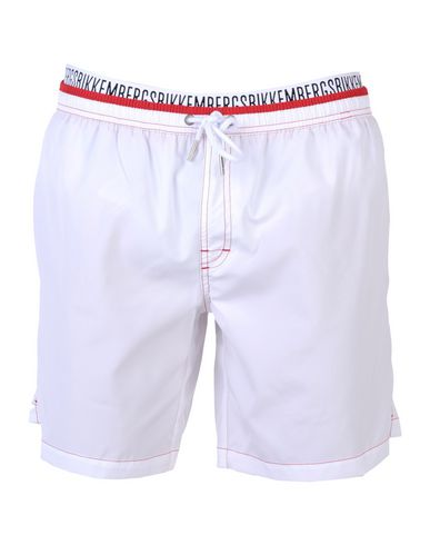 BIKKEMBERGS メンズ 水着(ボクサーパンツ) ホワイト S ポリエステル 100%