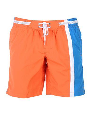 BIKKEMBERGS メンズ 水着(ボクサーパンツ) オレンジ S ポリエステル 100%