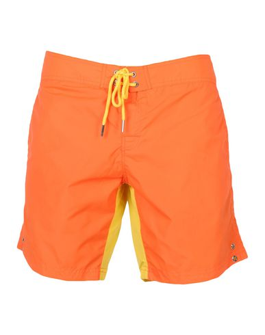 BIKKEMBERGS メンズ 水着(ボクサーパンツ) オレンジ S ナイロン 100%