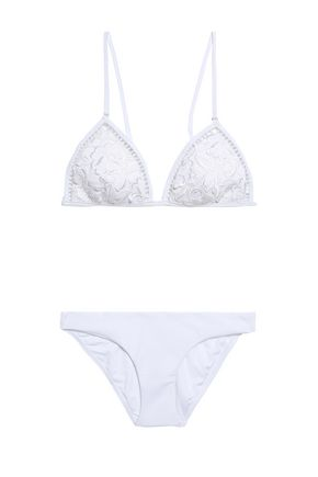 ZIMMERMANN Roza embroidered triangle bikini