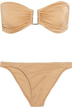 MELISSA ODABASH Barcelona metallic bandeau bikini