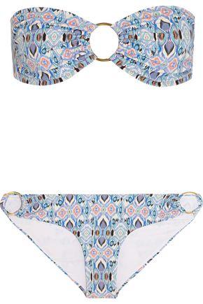 MELISSA ODABASH Evita printed bandeau bikini