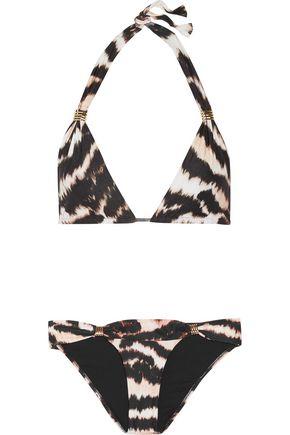 MELISSA ODABASH Grenada embellished printed triangle bikini