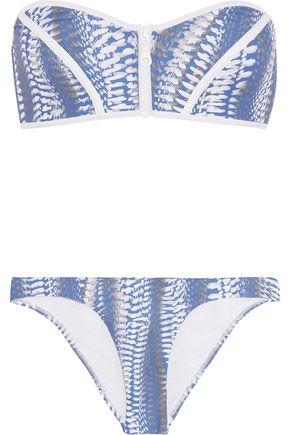 MELISSA ODABASH Hamptons printed bandeau bikini