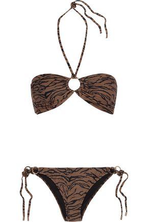 MELISSA ODABASH Janeiro printed halterneck bikini