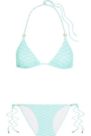 MELISSA ODABASH Key West metallic triangle bikini