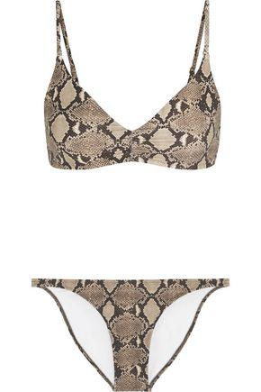 MELISSA ODABASH Marbella snake-print triangle bikini