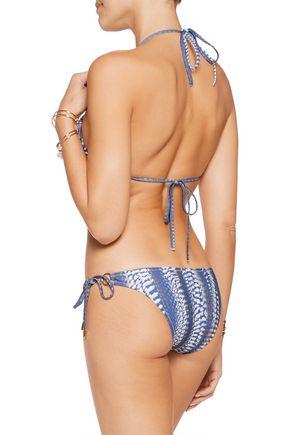 MELISSA ODABASH Palm printed triangle bikini