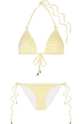 MELISSA ODABASH Portugal snake-print triangle bikini
