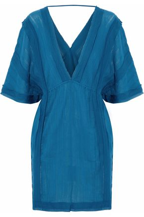 VIX Frayed cotton-gauze coverup