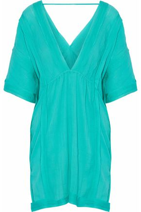 VIX PAULA HERMANNY Frayed cotton-gauze coverup