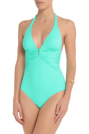 Best Seller Cheap Price Melissa Odabash Woman Tuscany Ruched Underwired Swimsuit Light Blue Size 8 Melissa Odabash Comfortable Cheap Online 9lydXY6Q
