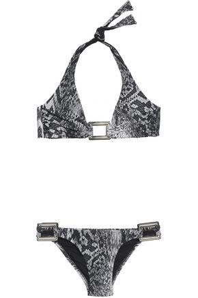 MELISSA ODABASH Snake-print triangle bikini