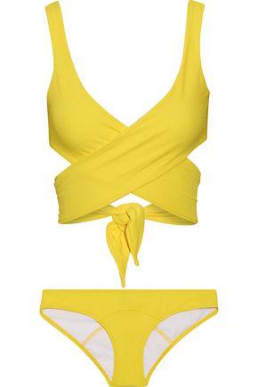 LISA MARIE FERNANDEZ Marie-Louise crepe wrap bikini