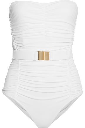 MELISSA ODABASH Croatia ruched belted swimsuit
