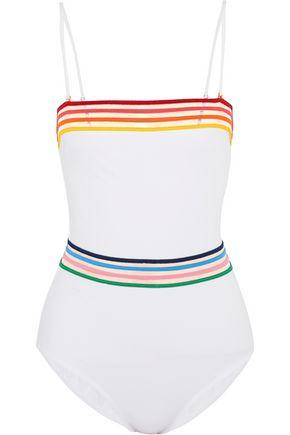 EMMA PAKE Sunrise Monica mesh-trimmed bandeau swimsuit