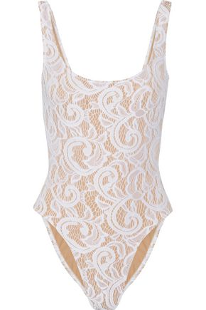 NORMA KAMALI Mio stretch-lace swimsuit