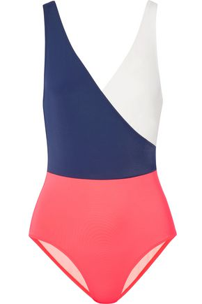 SOLID & STRIPED The Ballerina color-block swimsuit
