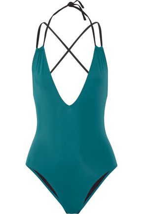 SOLID & STRIPED The Alexandra halterneck swimsuit