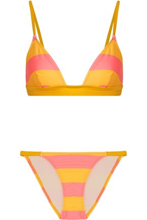 SOLID & STRIPED The Morgan striped triangle bikini