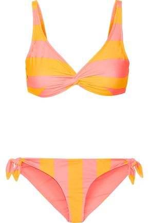 SOLID & STRIPED The Jane striped triangle bikini