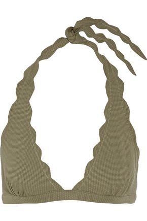MARYSIA Spring scalloped halterneck bikini top