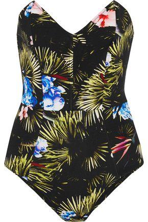 FLEUR DU MAL Printed bandeau swimsuit