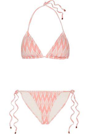 EBERJEY Gisele Kate printed triangle bikini