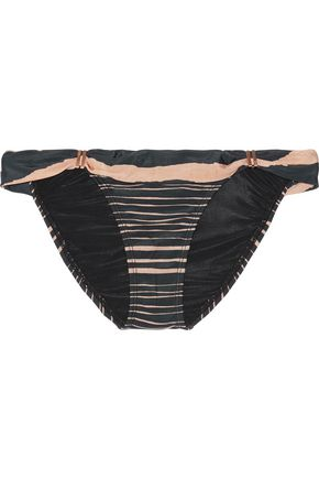 VIX Lanai Bia striped bikini briefs