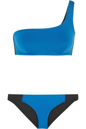 STELLA McCARTNEY Iconic Color Block one-shoulder bikini