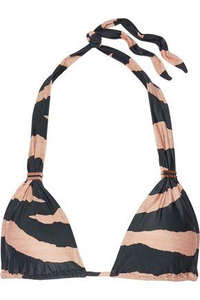 VIX Lanai Bia striped triangle bikini top