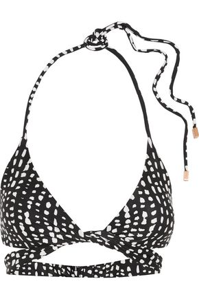 VIX PAULAHERMANNY Dot printed wrap bikini top