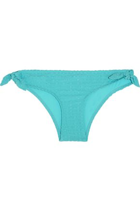 HEIDI KLEIN Santa Barbara seersucker low-rise bikini briefs
