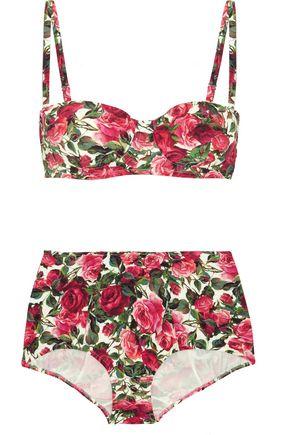 DOLCE & GABBANA Floral-print bikini