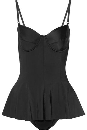 NORMA KAMALI Underwired peplum swimsuit