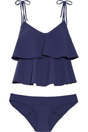 LISA MARIE FERNANDEZ Imaan ruffled stretch-crepe bikini