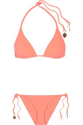 STELLA McCARTNEY Embellished triangle bikini