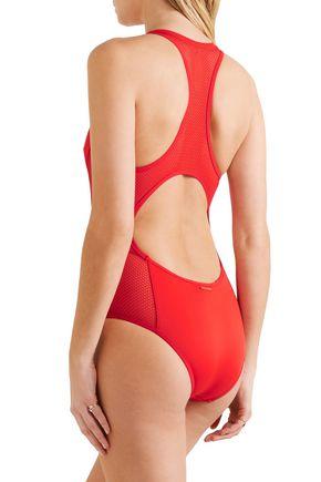 STELLA McCARTNEY Cutout neoprene and mesh swimsuit