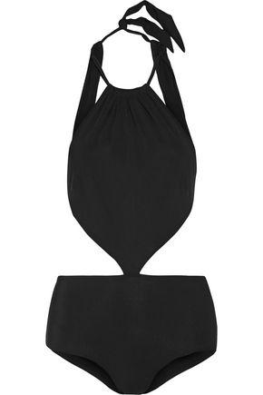 EMMA PAKE Stella cutout halterneck swimsuit