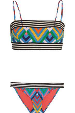 EMMA PAKE Olivia + Adriana mesh-trimmed printed bikini