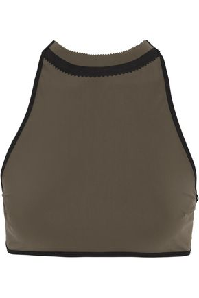 WARD WHILLAS Wythe reversible perforated halterneck bikini top