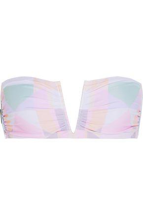 MARA HOFFMAN Printed bandeau bikini top