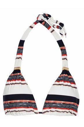 VIX PAULAHERMANNY Striped triangle-cup bikini top