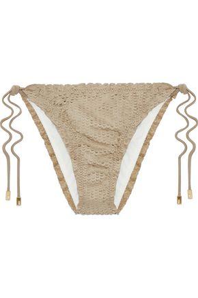 VIX PAULA HERMANNY Laser-cut low-rise bikini briefs