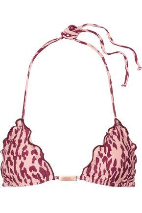 VIX Bali ruffled printed triangle bikini top