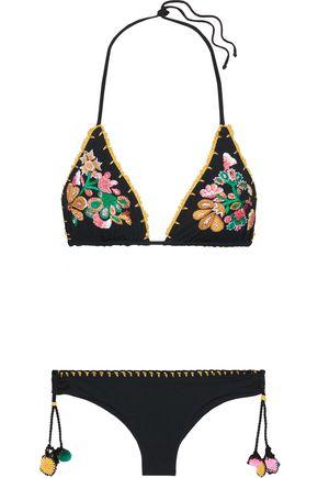 ANJUNA Dorina embroidered triangle bikini
